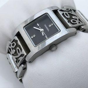 Fossil Ladies Watch Analog Silver Tone Wrist Watch